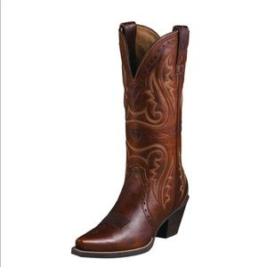 {Ariat} Heritage Western X Toe Boot leather sz 8